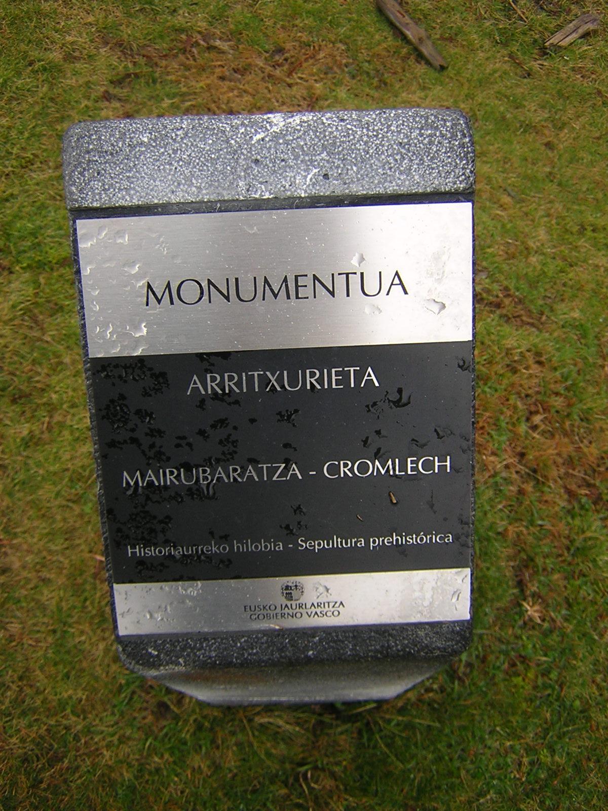 Cromlech Arritxurieta Mairubaratza