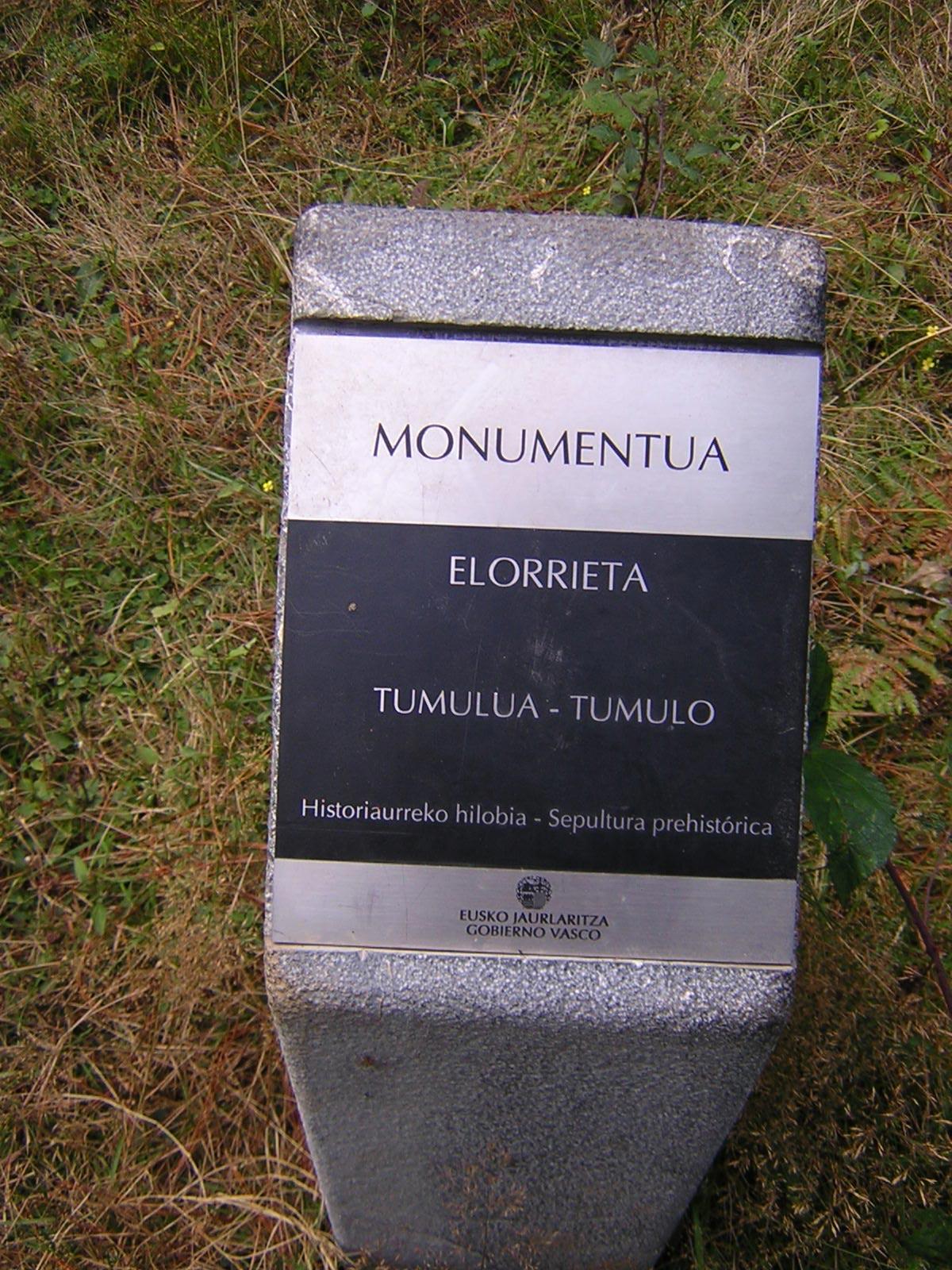 Túmulo Elorrieta Tumuloa