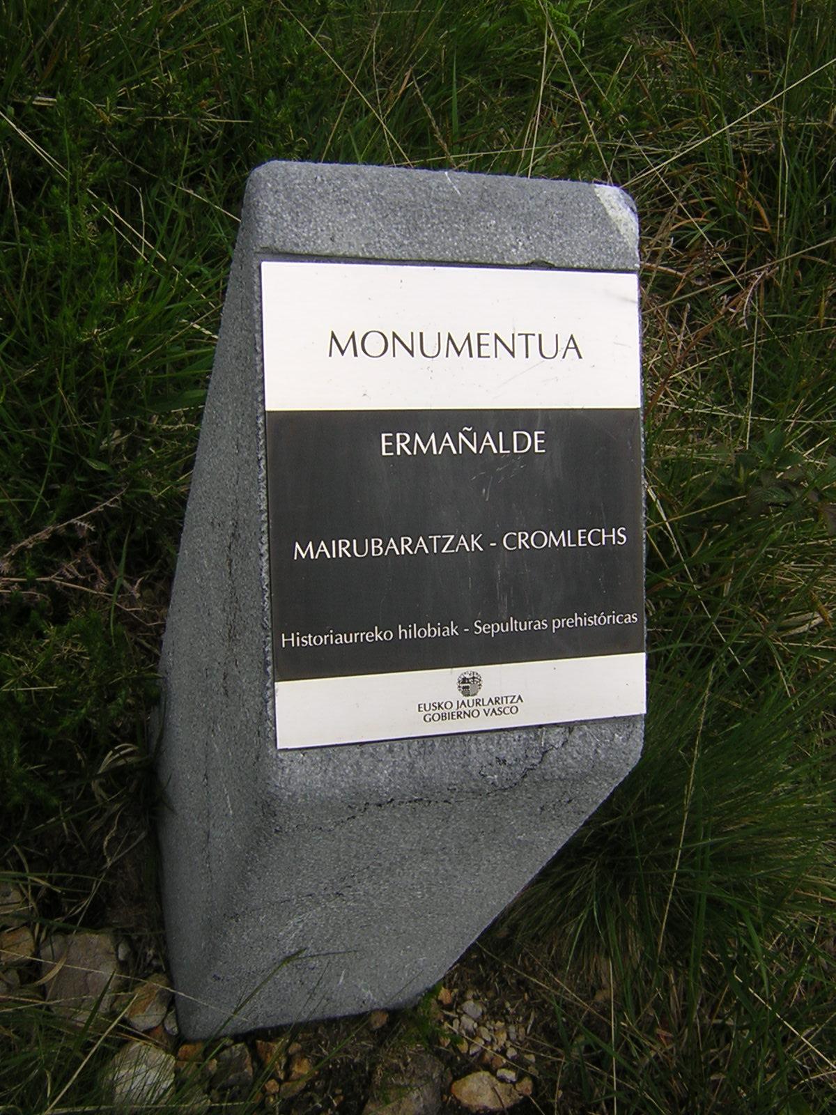 Cromlech Ermañalde Mairubaratza