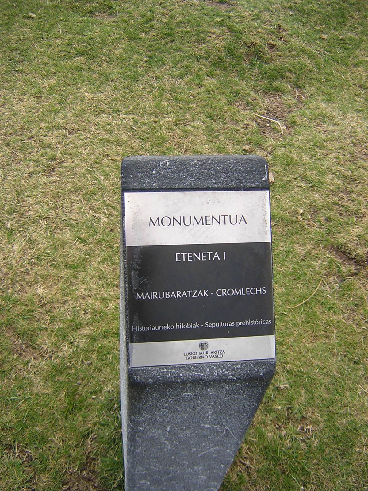 Cromlech Eteneta 1  Mairubaratza
