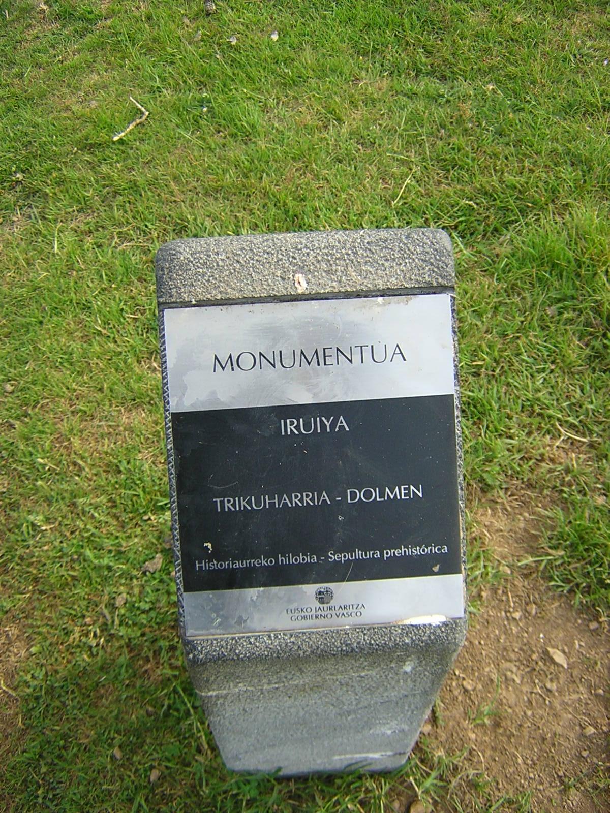 Dolmen Iruiya Trikuharria