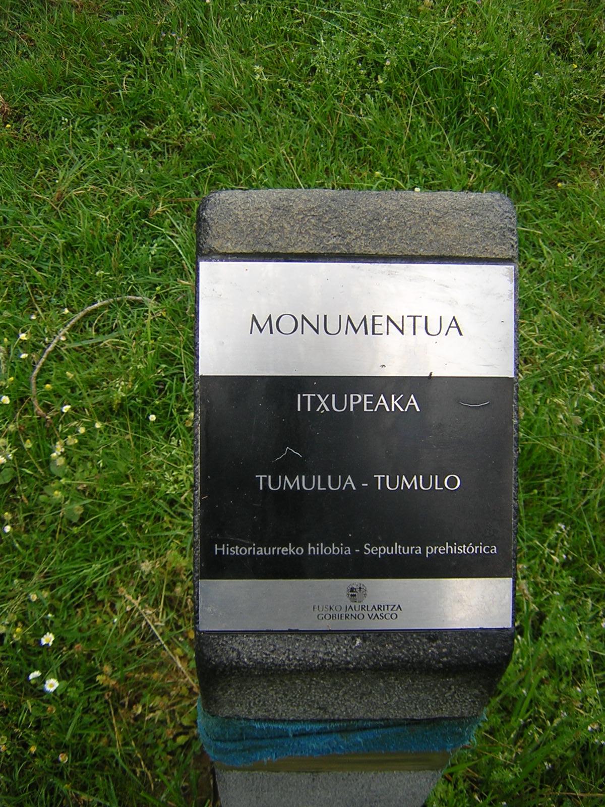 Túmulo Itxupeaka Tumuloa