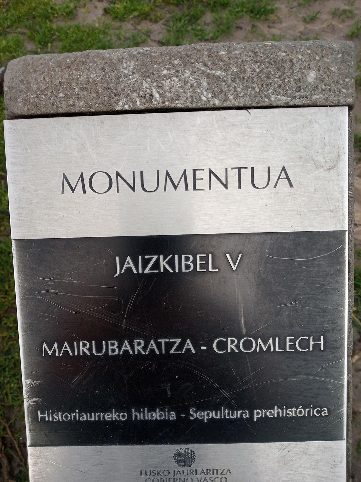 Mairubaratza Jaizkibel 5 Cromlech