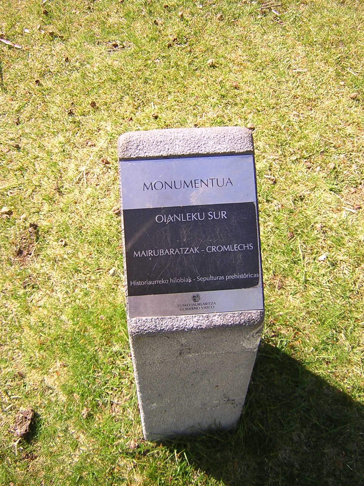Cromlech Oianleku sur Mairubaratza