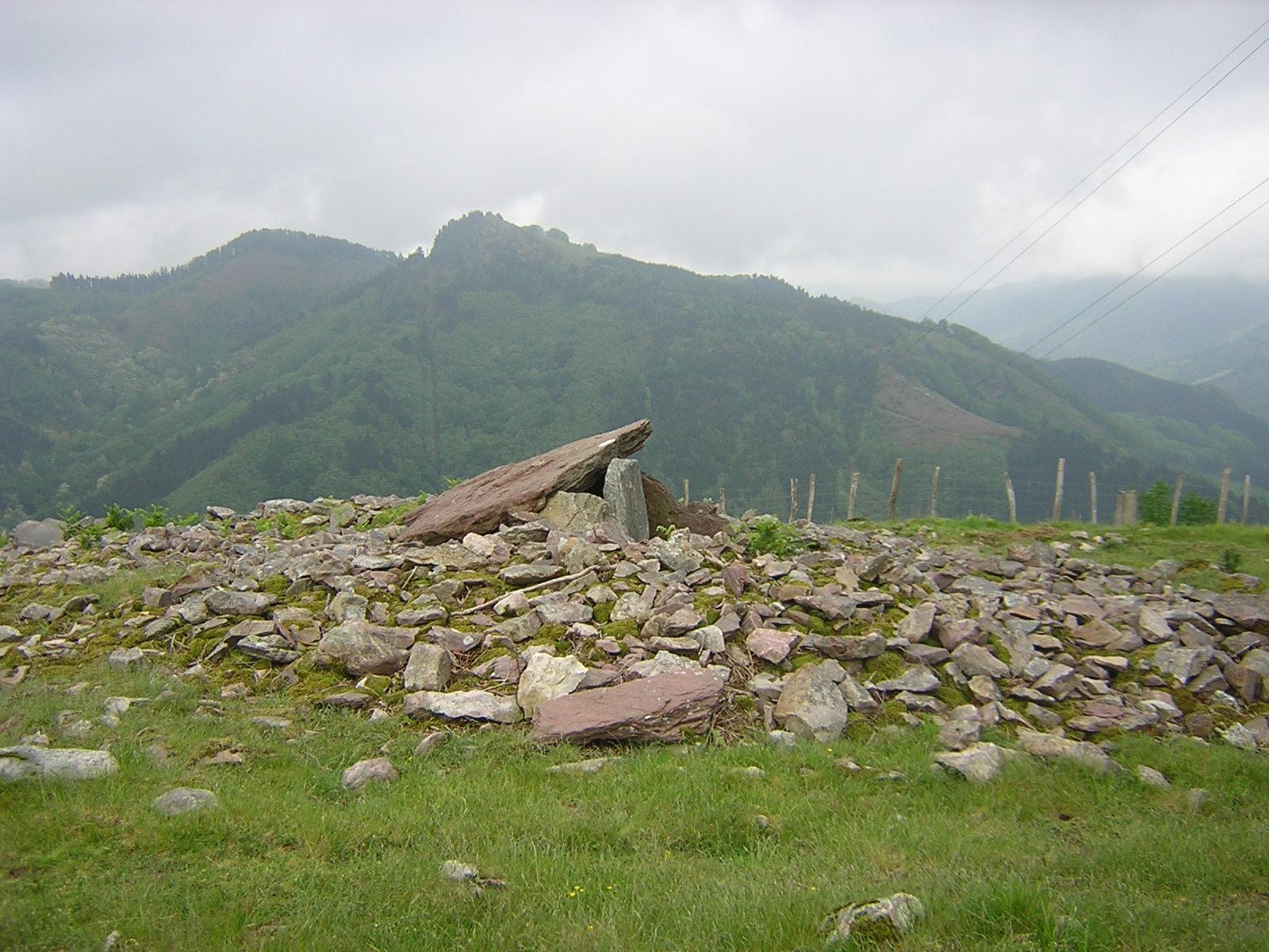 Dolmen Sagastietako lepua 1 Trikuharria