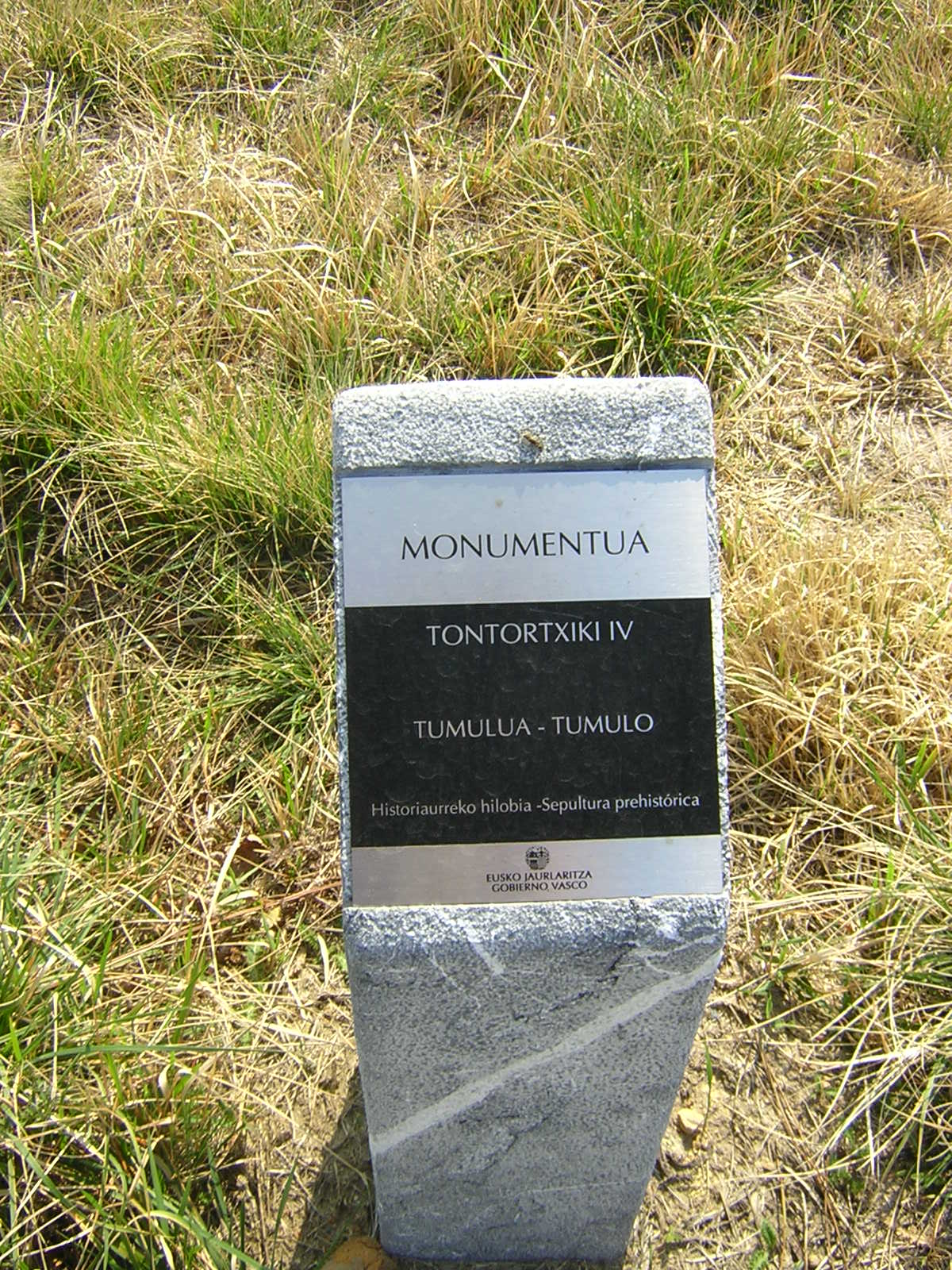 Túmulo Tontortxiki 4 Tumoloa