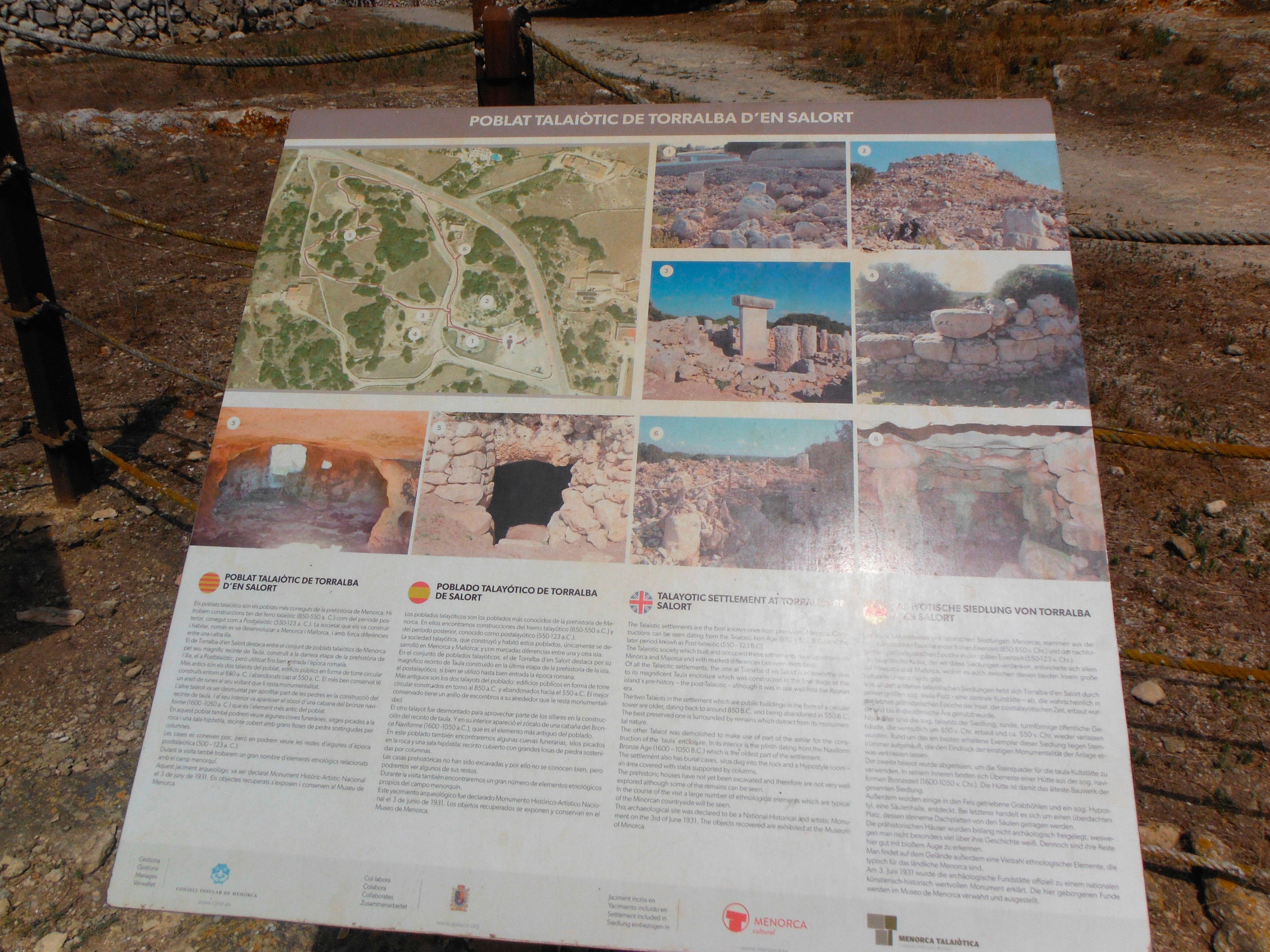 Panel informativo del Poblado talayótico de Torralba de Salort