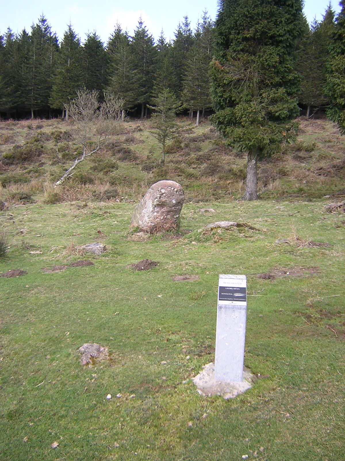 Menhir Usobelartza Zutarria